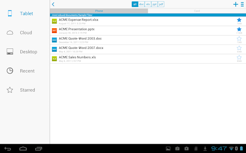 Docs To Go - Free Office Suite Screenshot