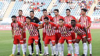 El último once del Almería, frente al Real Zaragoza.