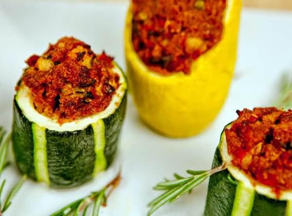 Tomato Stuff Baked Zucchini Recipe