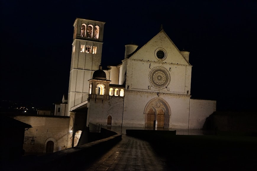 Night view of the Basilica