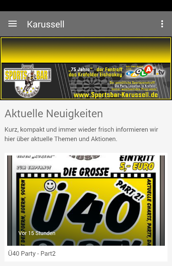 Sportsbar Karussell- screenshot