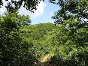 冠岳への登り