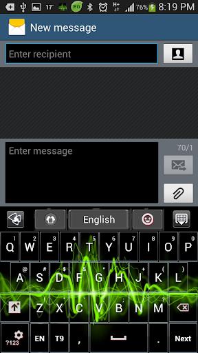玩個人化App|Neon Pulse GO Keyboard Theme免費|APP試玩