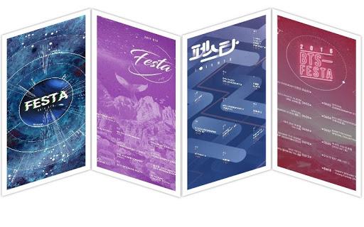 BTS Festa all Years Schedules