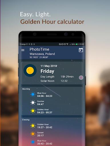 PhotoTime: Golden Hour - Blue Hour time Calculator 1.41 screenshots 1