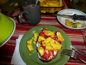 Photo: Yes that's golden pineapple AND strawberries all on the same plate.  I managed to eat strawberries every single day I was in Costa Rica!