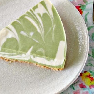 No-Bake Green Tea Tofu Cheesecake.