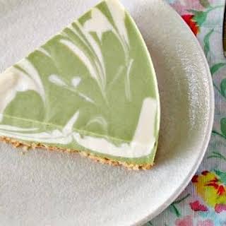 No-Bake Green Tea Tofu Cheesecake.