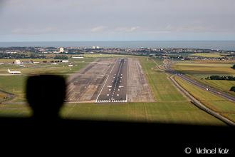 Photo: Final approach Manston Airport.
