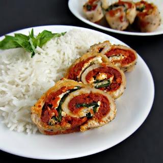 Sundried Tomato & Ricotta Chicken Roulade
