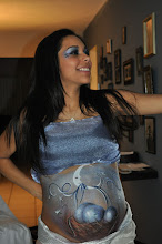 Photo: Glamorous Pregnant Belly Art design by Paola from http://www.BestPartyPlanner.net