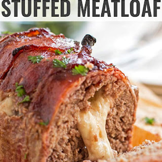 Mozzarella Stuffed Bacon Wrapped Meatloaf