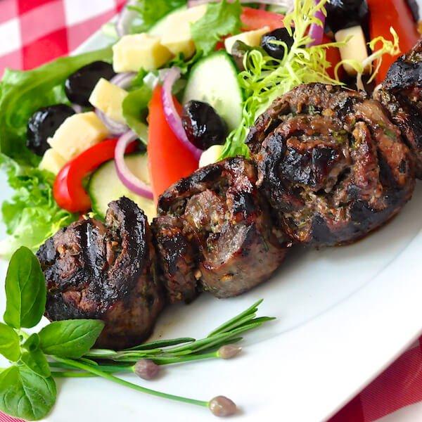Herb and Garlic Rolled Steak Medallions Recipe