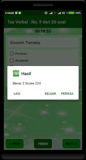 Latihan Tes Potensi Akademik 2018 1.2.0 screenshots 5