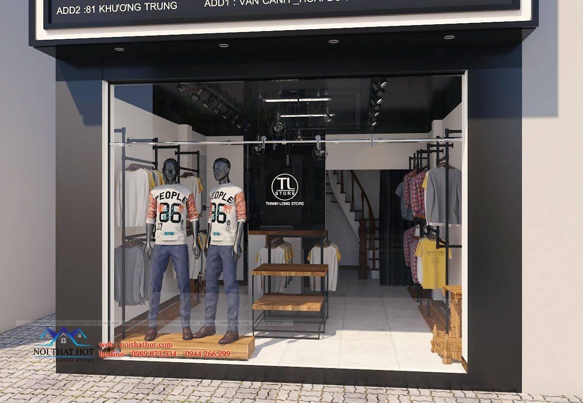 thiết kế shop thời trang nam 2