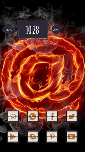 Red Fire Rose Theme