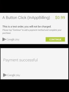 InAppBilling Test App - náhled