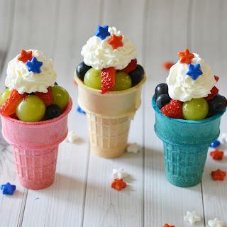 Patriotic Fruit Cones