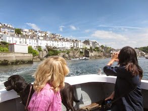 Photo: To reach Polperro we must cross to Polruan.
