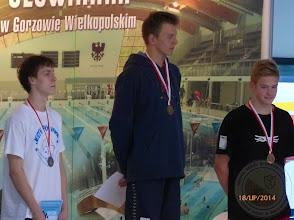 Photo: Letnie Mistrzostwa Polski w pływaniu - Maciej Danilewski  brązowy medal na 100m grzbietowym lipiec 2014