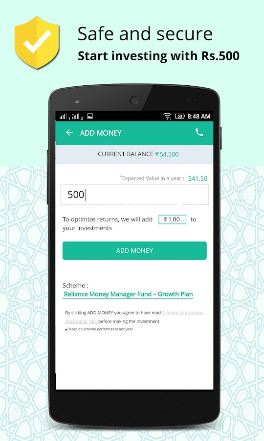 Earn higher than Fixed Deposit, Start with Rs. 500- screenshot
