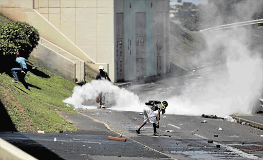 University of KwaZulu Natal students in Westville recently engaged in violent protest in the residents' section of the university.