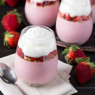 Strawberry Cheesecake Mousse.