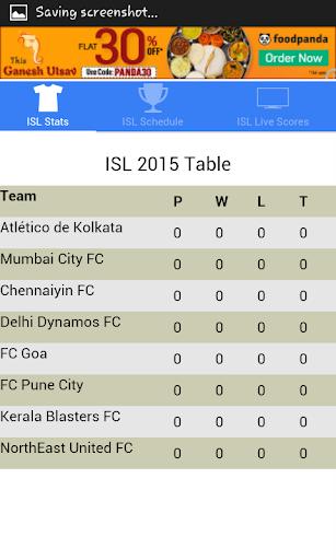 ISL Schedule Stats Live Scores