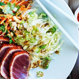 Seared Tuna Salad With Sesame Dressing.