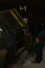 Photo: Ross inspecting the inside of the CBL body.