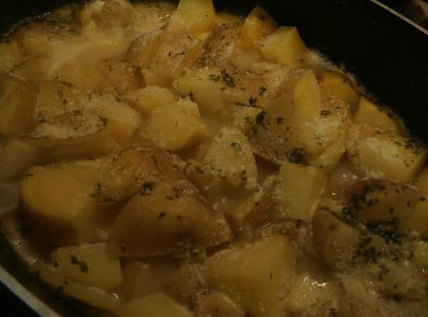 On The Stove Parsley Parm Yukons
