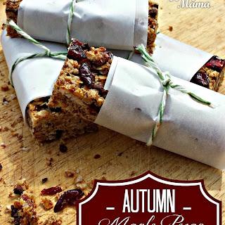 Autumn Maple Pecan Granola Bars