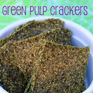 Green Juice Pulp Crackers.