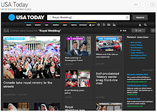 Photo: USA Today's section fronts provide a digital canvas of information and engaging images.