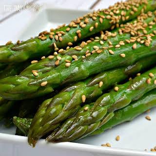 Quick Marinated Sesame Asparagus.