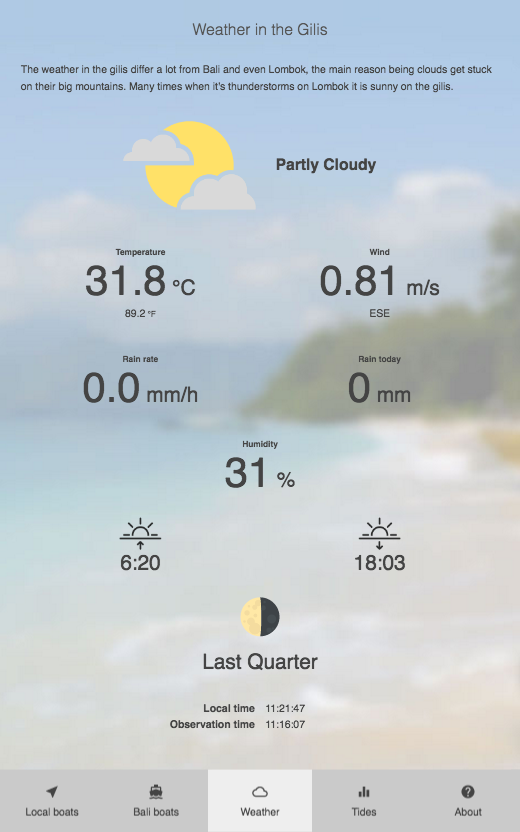 The Gilis - Boats and Weather- screenshot