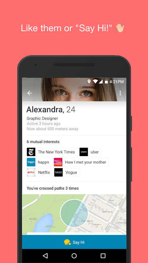happn app dating Happn is an interesting little dating app when it comes to how it handles your personal geography with tinder, you can swipe in any city, but hell if you are going to try to date someone 3000 miles away okcupid and pof generally offer up probable mates within a set radius happn offers up people .