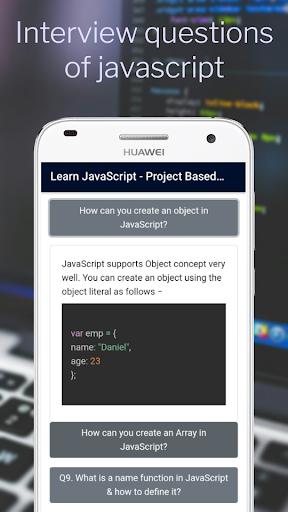 Lernen Sie JavaScript - Projektbasierte Tutorials Punkt-Screenshots 7