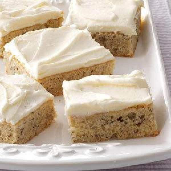 Banana Bread Bars With Cream Cheese Frosting Recipe