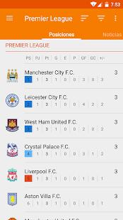 Resultados del fútbol: miniatura de captura de pantalla
