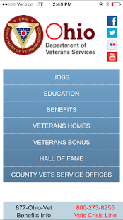 Ohio Dept of Veterans Services- screenshot thumbnail
