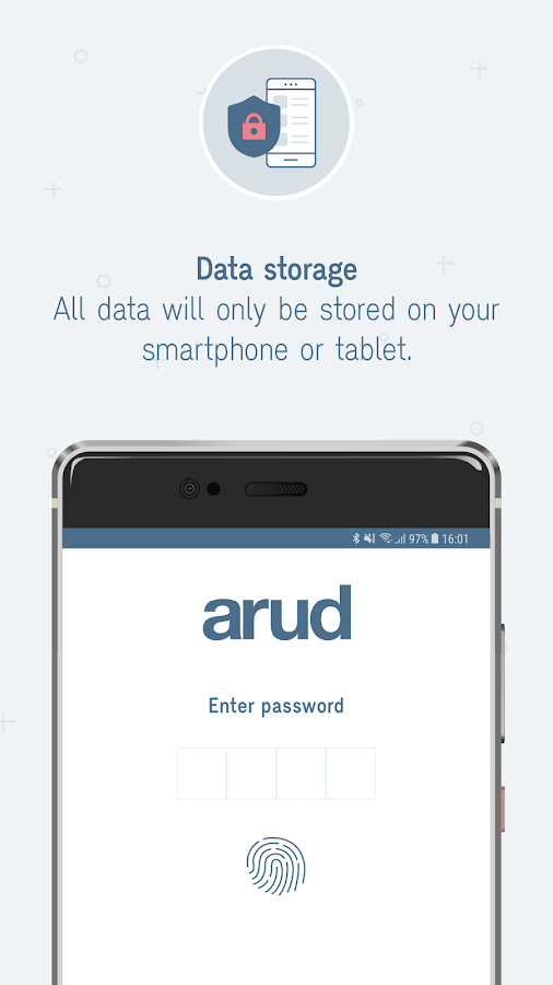 Arud consumption diary- screenshot