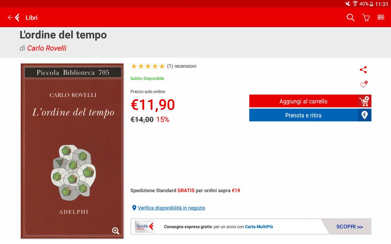 la feltrinelli mobile android apps on google play