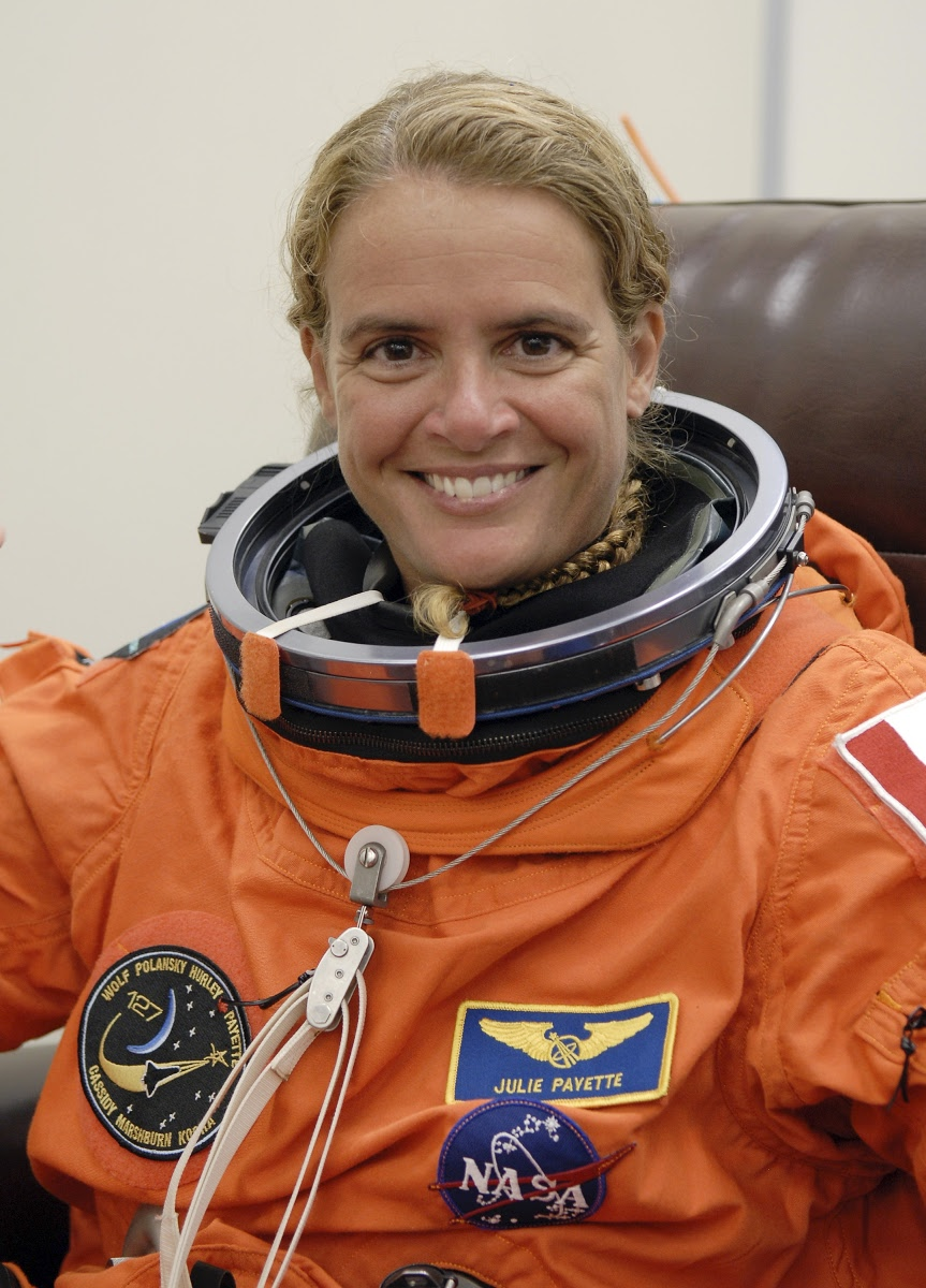 STS-127 Mission Specialist Julie Payette of the Canadian Space Agency is  eager for launch of space shuttle Endeavour. — Google Arts & Culture