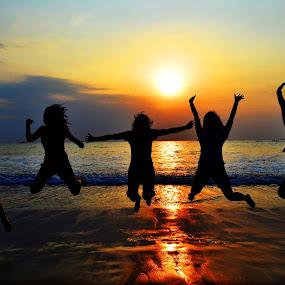 Jump!! by Arindra Arindra - People Street & Candids ( sunset )