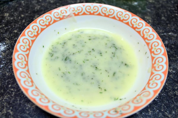 To make the herb butter, combine the rosemary, lemon juice, salt, and melted butter...