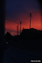 Photo: (Year 3) Day 30 -  Sunset Via the Van Mirror #3