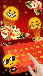 Luxury Rose Petal Keyboard Theme - náhled