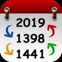 📅 تبدیل تاریخ + تقویم و ساعت icon