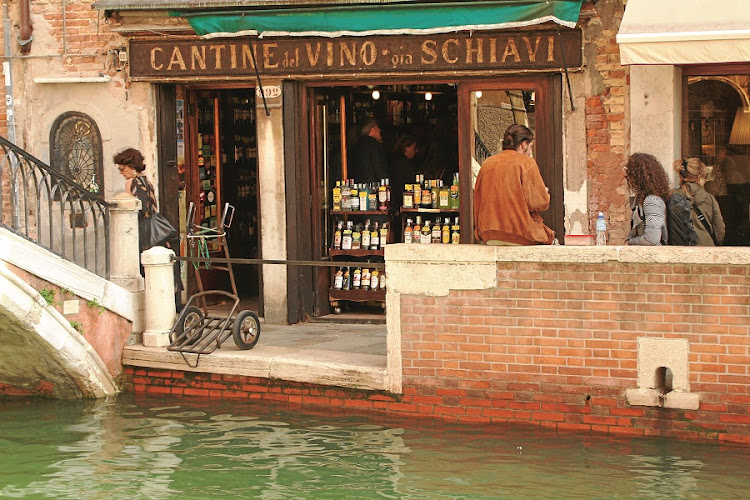 Cantine del Vino già Schiavi. Wine bar in picturesque setting near museums. Picture: MADELEINE MORROW